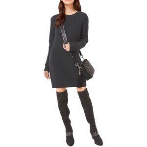 Michael Kors Wool Cashmere Gray Sweater Dress